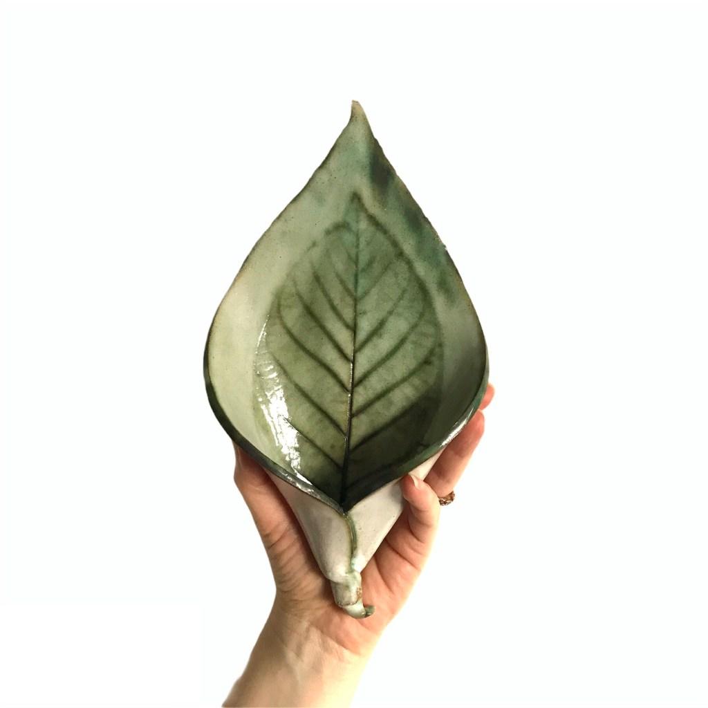 Lily Leaf Wall Planter by Sonya Ceramic Art