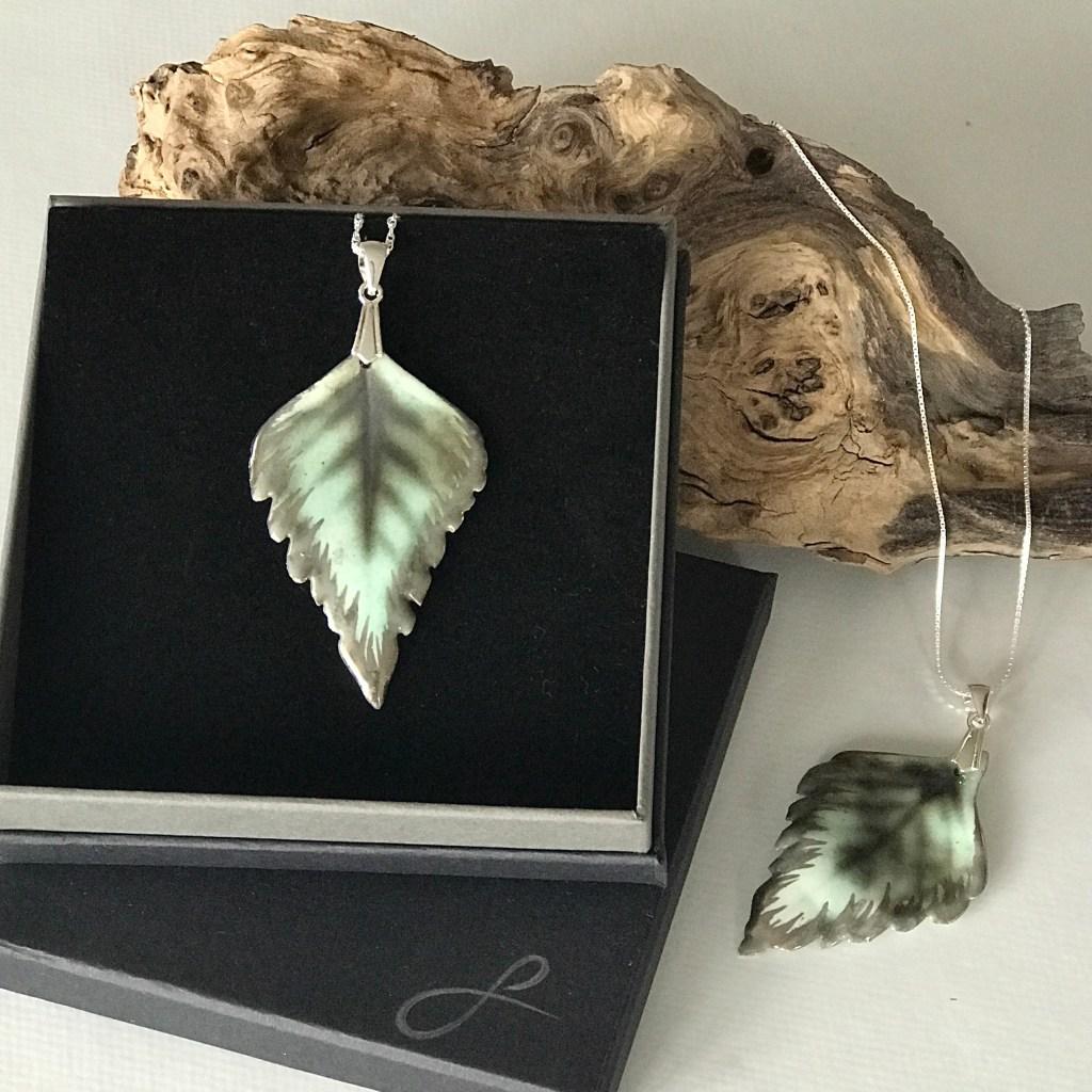 Silver Birch Pendants By Sonya Ceramic Art