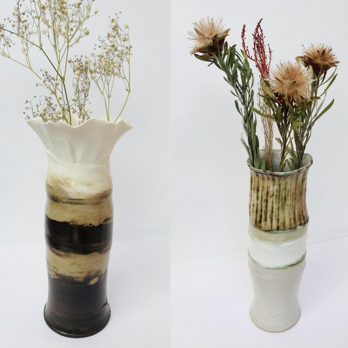Sonoran Vortex Vase Duo by Sonya Ceramic Art