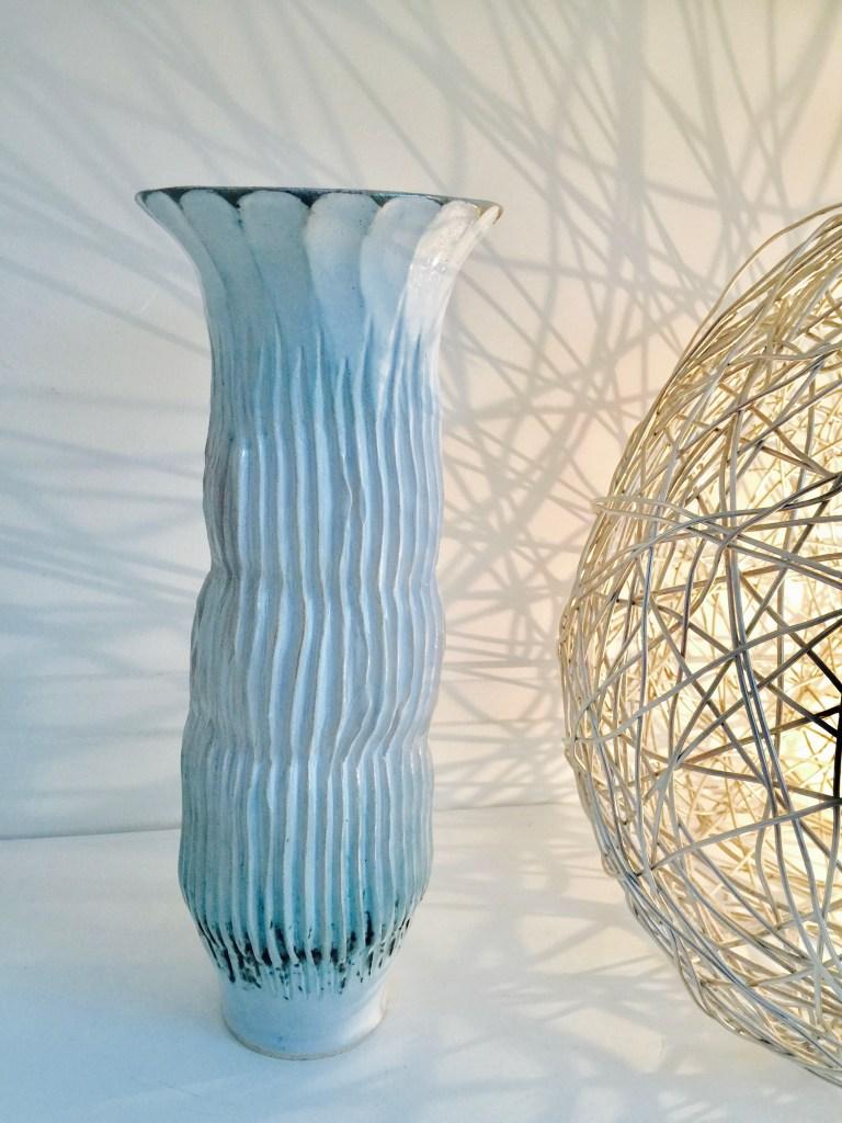 Tall Sonoran Cactus Vase by Sonya Ceramic Art