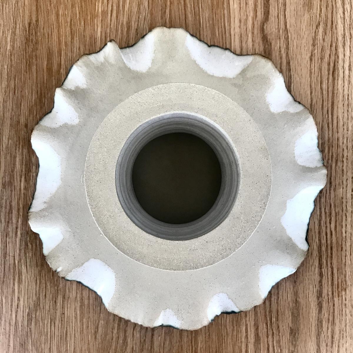 Pond Lily Leaf Cake Stand (base underside profile) by Sonya Ceramic Art