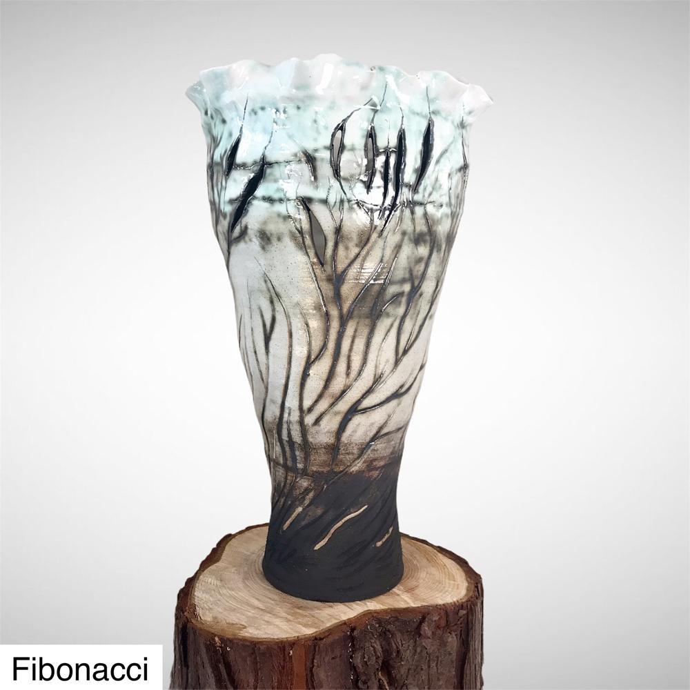 Fibonacci Vase By Sonya Ceramic Art