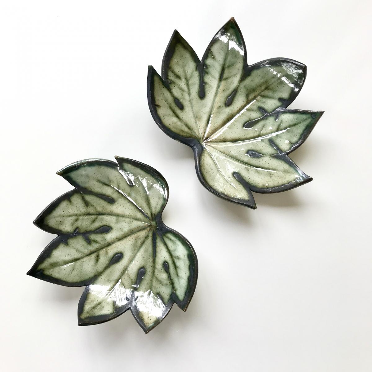 Rustic Green Trinket Dish by Sonya Ceramic Art