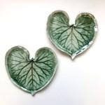 Leaf Love Heart Wall Art Pair by Sonya Ceramic Art